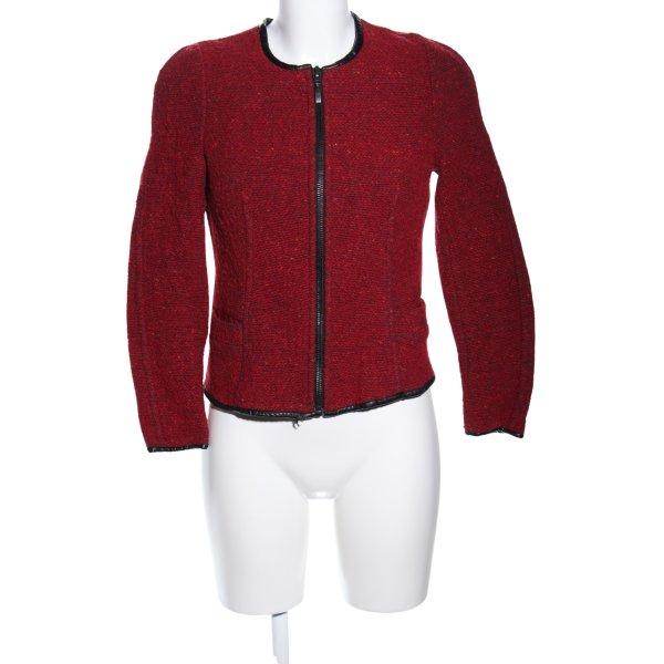 Zara Basic Übergangsjacke rot-schwarz meliert Business-Look