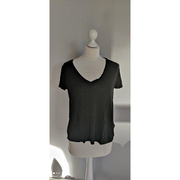 Zara Basis Shirt Schwarz Gr M ungetragen