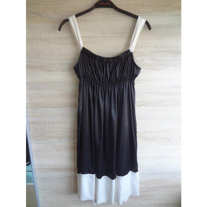 ZARA black white Kleid babydoll locker fließend M
