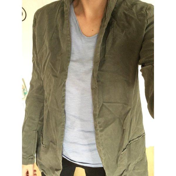 Zara Denim Blazer khaki-green