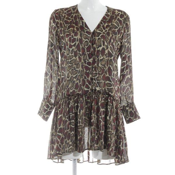 Zara Blusenkleid abstraktes Muster extravaganter Stil