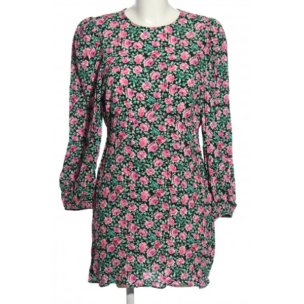 Zara Blusenkleid Allover-Druck Elegant