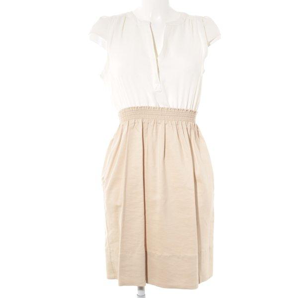 Zara Blusenkleid weiß-creme Casual-Look