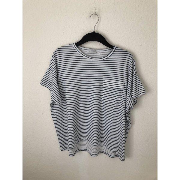 Zara Boyfriend Shirt gestreift