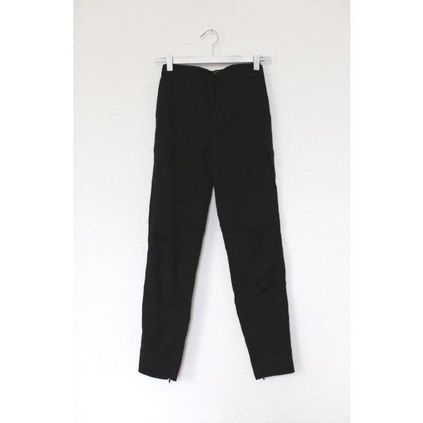 Zara Brokat Hose Chino in schwarz Gr. S mit Muster