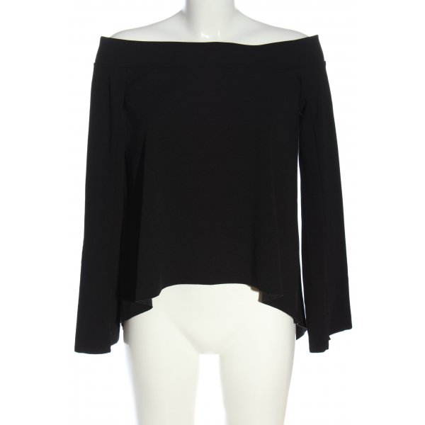 Zara Carmen-Bluse schwarz Casual-Look