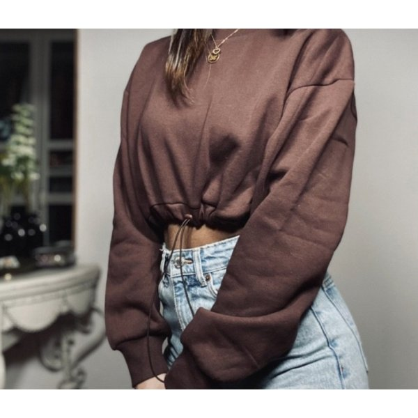 Zara Crop Hoodie Sweatshirt Gr.S