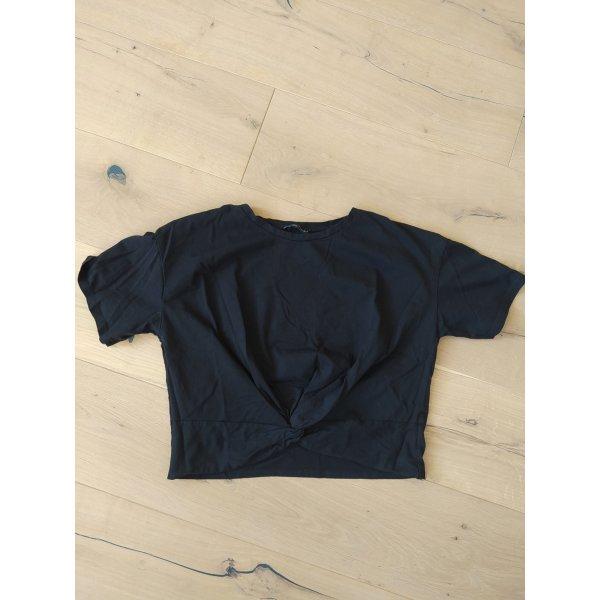 Zara Cropshirt Cropped Shirt Crop Knoten