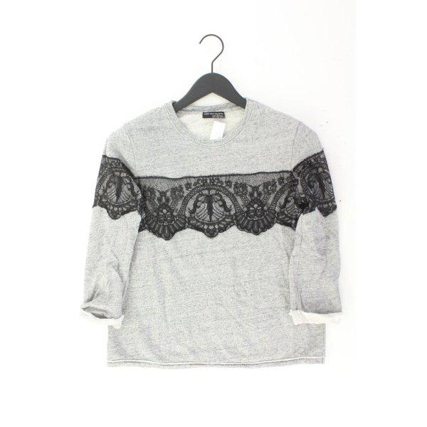 Zara Feinstrickpullover Größe M grau aus Polyamid
