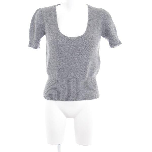 Zara Feinstrickpullunder grau schlichter Stil