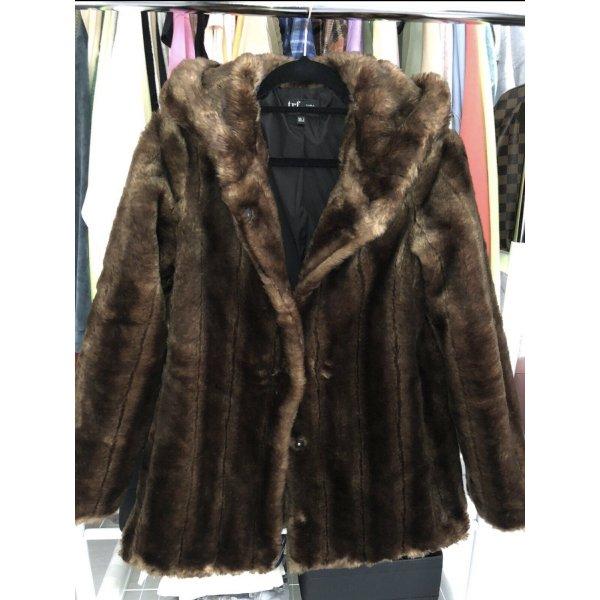 Zara Felljacke Mantel Winterjacke Braun Teddyjacke Größe S