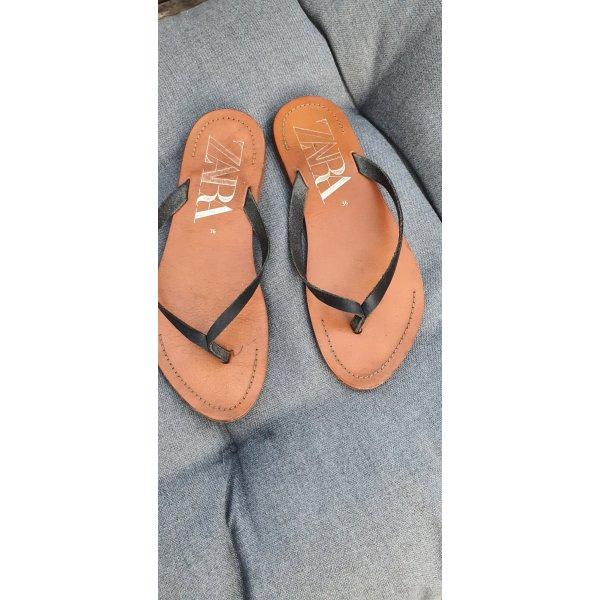 Zara flip Flop Leder