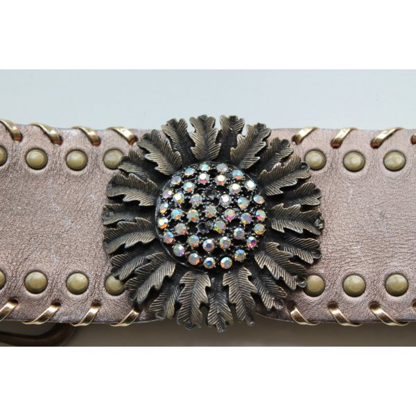 Zara Waist Belt grey brown leather