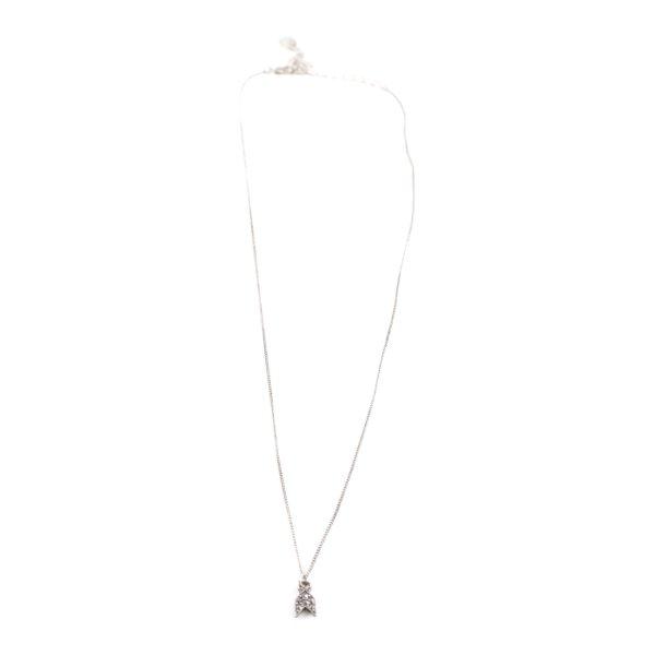 Zara Halskette silberfarben Casual-Look