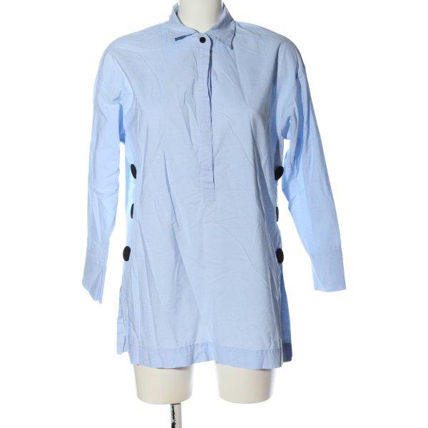 Zara Hemd-Bluse blau Elegant