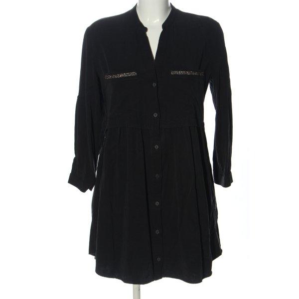 Zara Hemdblusenkleid schwarz Casual-Look