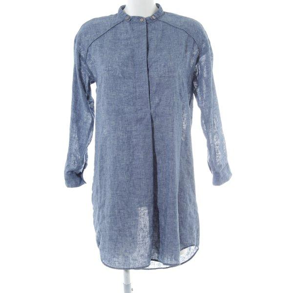 Zara Hemdblusenkleid stahlblau klassischer Stil