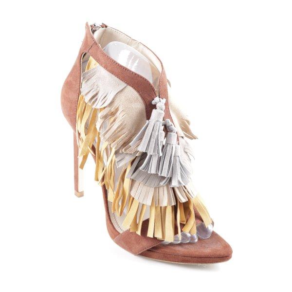 Zara High Heel Sandal multicolored Boho look