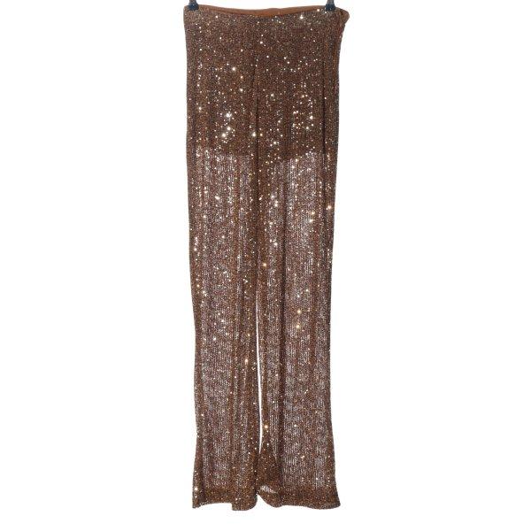 Zara High-Waist Hose braun Elegant