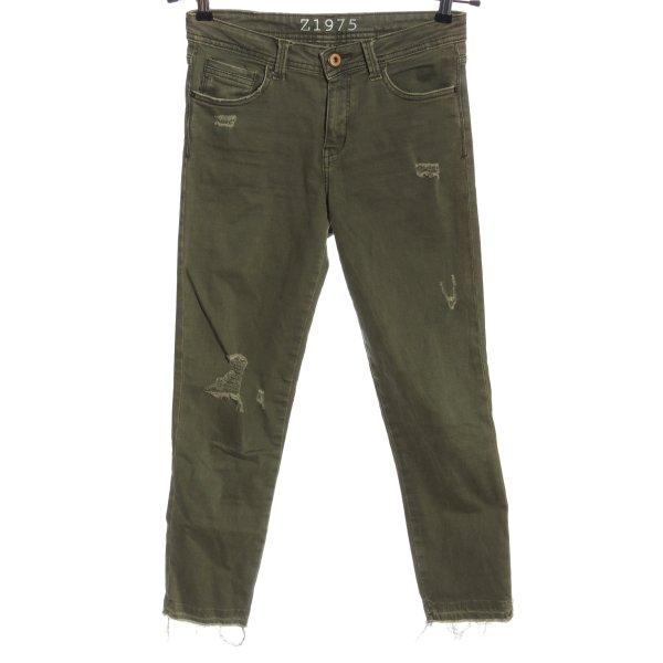 Zara High Waist Jeans khaki Casual-Look