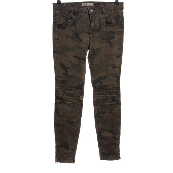 Zara High Waist Jeans Allover-Druck Casual-Look