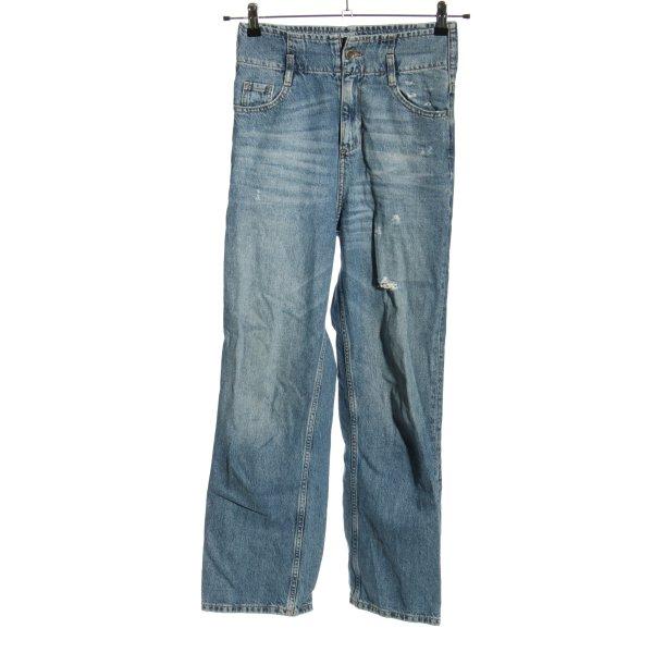 Zara High Waist Jeans blau Casual-Look