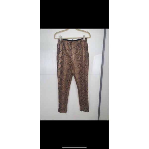 Zara High waist Leder Hose