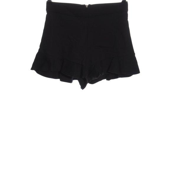 Zara High-Waist-Shorts schwarz Streifenmuster Casual-Look