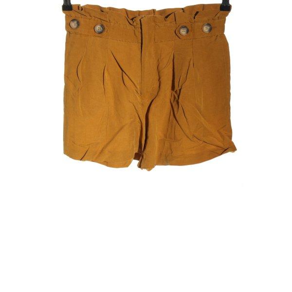 Zara High-Waist-Shorts hellorange Casual-Look