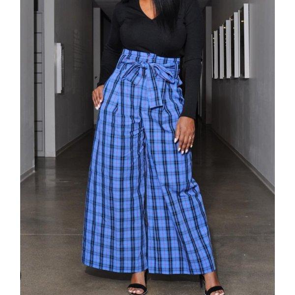 Zara Hose Blau NEU Pants blogger
