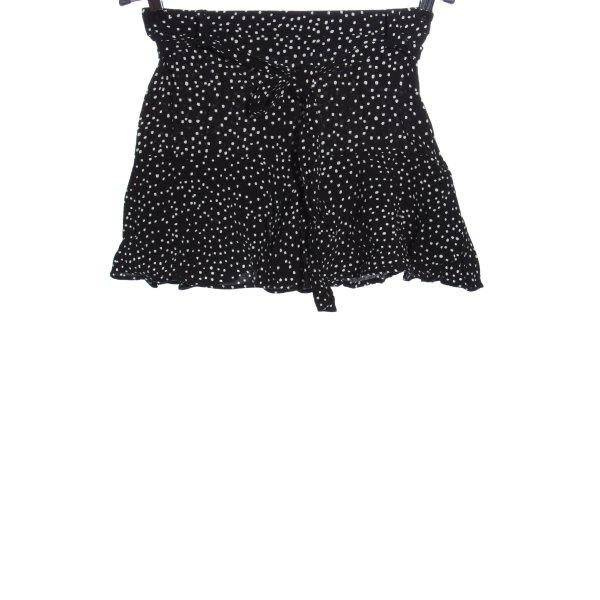 Zara Beachshorts schwarz-weiß Allover-Druck Casual-Look