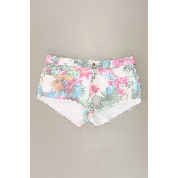 Zara Hotpants Größe 40 mit Blumenmuster mehrfarbig