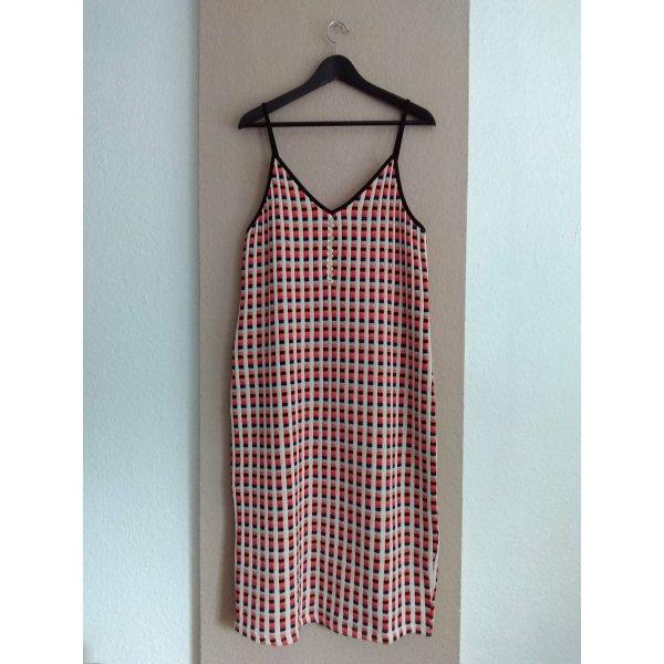 Zara hübsches mehrfarbiges Trägerkleid aus 73% Baumwolle, Grösse L