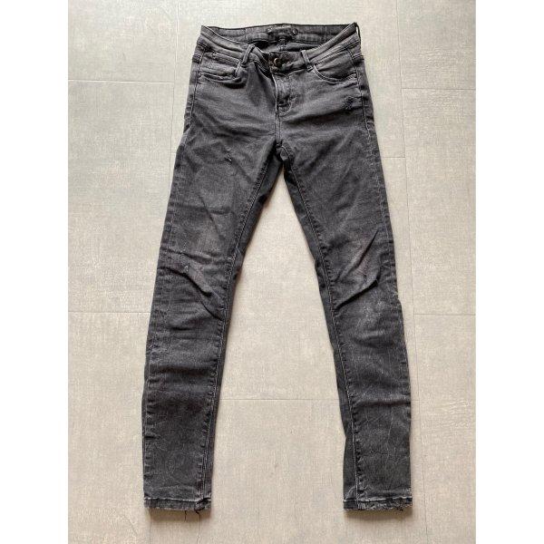 ZARA Jeans Destroyed Jeans Grau Verwaschen S 36
