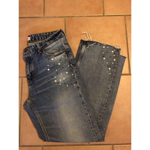 Zara Jeans mit Perlen