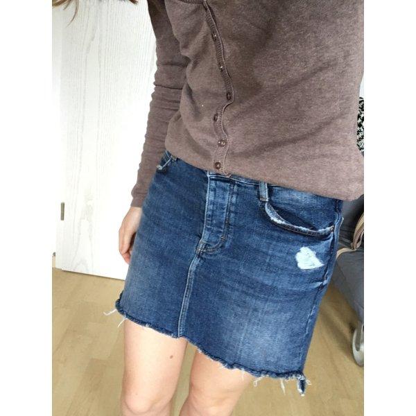 Zara Spijkerrok blauw-donkerblauw