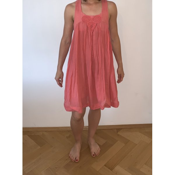 Zara Kleid Coral pink rot Größe S