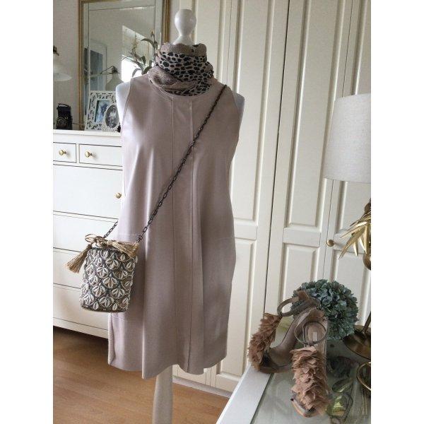 Zara Kleid Kunstleder Jersey rosè Gr. L