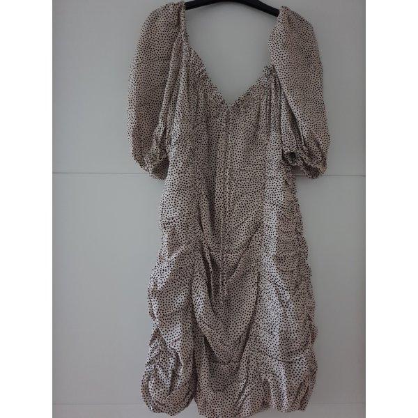Zara Kleid Mini MiniKleid Drapiertes Kleid mit Punkten