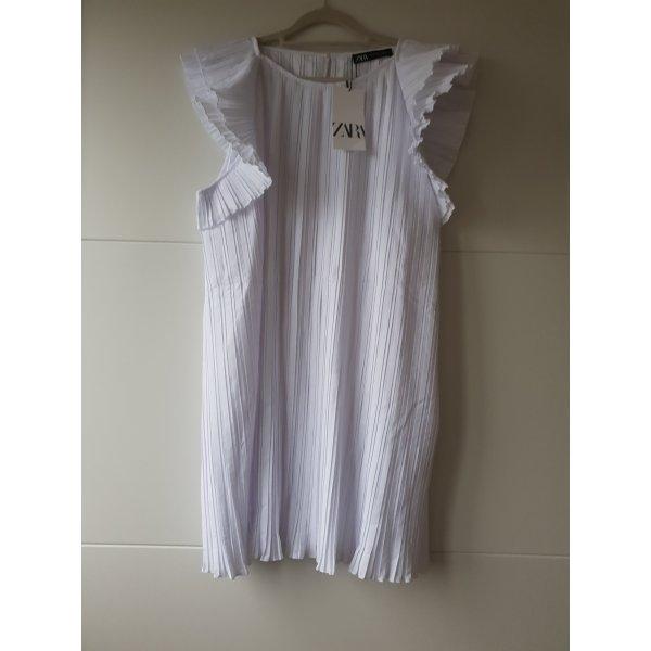 Zara Kleid Mini Plissée-Kleid weiß, grösse M
