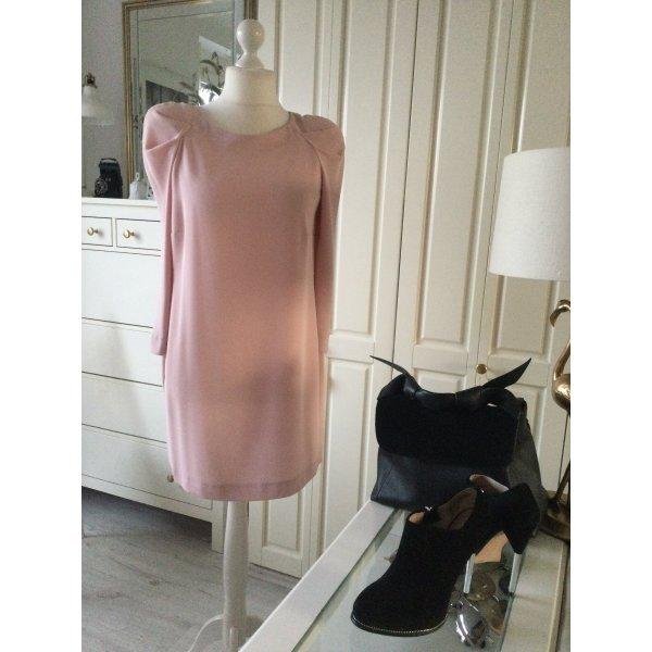 Zara Kleid Statementärmel Etuikleid rosé Gr. L neu mit Etikett