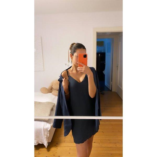 Zara Kleid Top Basic Blau Grau