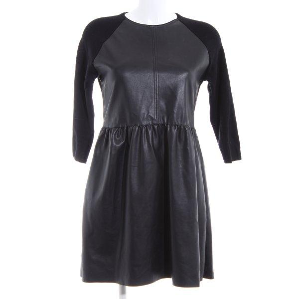 Zara Knit Cocktailkleid schwarz Casual-Look