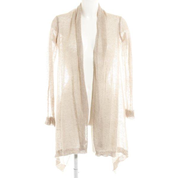 Zara Knit Häkel Cardigan beige Casual-Look