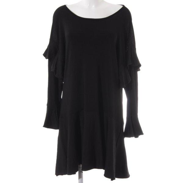 Zara Knit Langarmkleid schwarz schlichter Stil