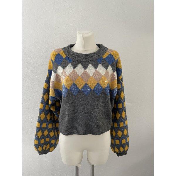 Zara Knit Pullover gr M Strickpullover Bunt