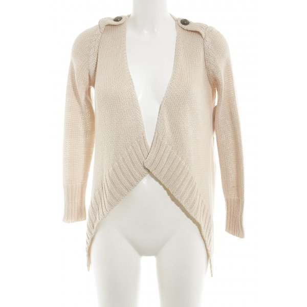 Zara Knit Strick Cardigan rosé Casual-Look