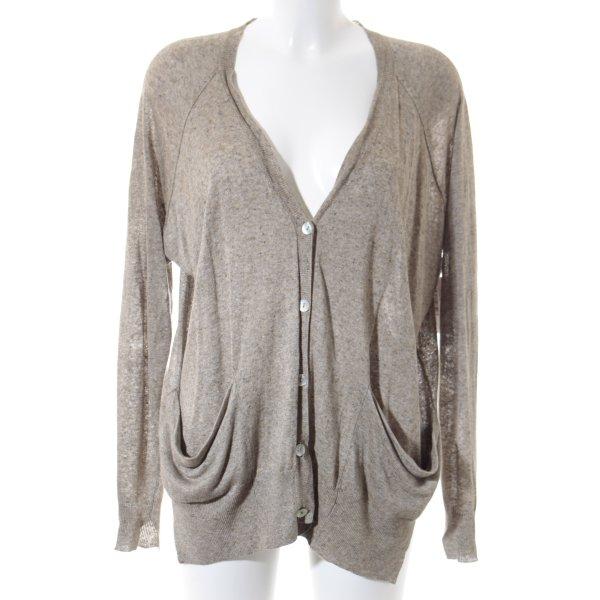 Zara Knit Strick Cardigan sandbraun schlichter Stil