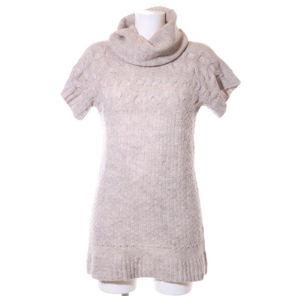 Zara Knit Strickkleid creme Zopfmuster Casual-Look