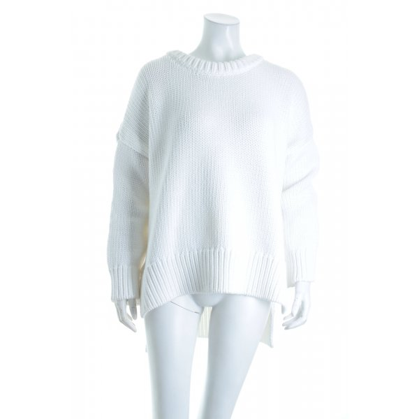 Zara Knit Strickpullover weiß Casual-Look